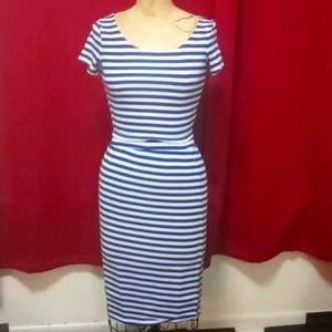 Victoria 2 piece Blue & White stripe Skirt…